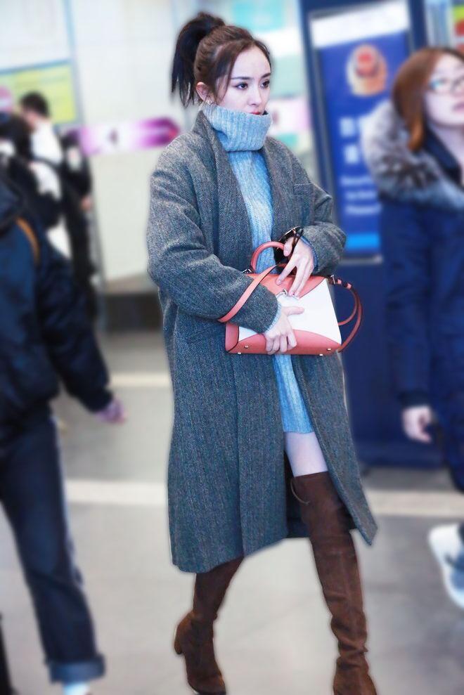 韓国 ファッション トップス ニット セーター 秋 冬 カジュアル PTXG960  ゆるタートル ビッグシルエット ミニワンピ風 オルチャン シンプル 定番 セレカジの写真17枚目