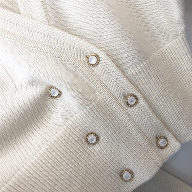 韓国 ファッション トップス ニット セーター 秋 冬 カジュアル PTXH015  深Vネック パールボタン カーディガン リブ オルチャン シンプル 定番 セレカジの写真18枚目