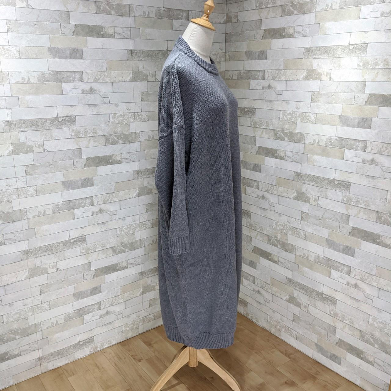 【即納】韓国 ファッション ワンピース 秋 冬 カジュアル SPTXH166  ゆったり リブニットワンピ ビッグシルエット オルチャン シンプル 定番 セレカジの写真4枚目