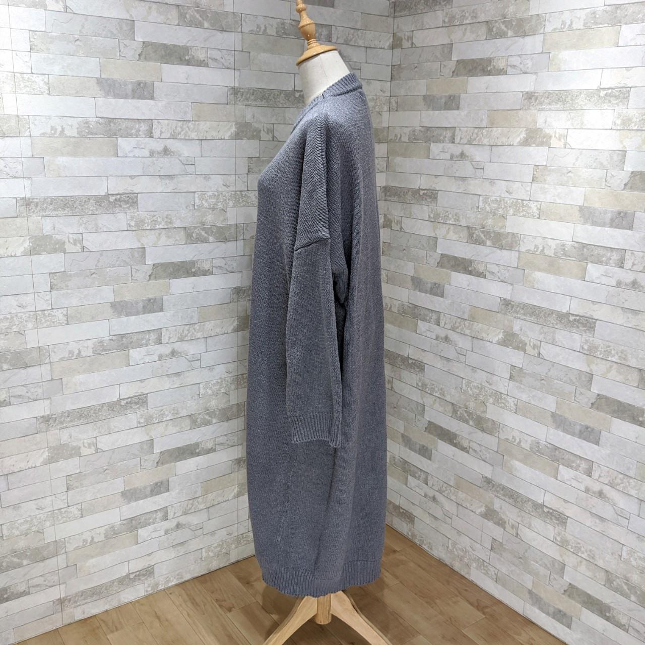 【即納】韓国 ファッション ワンピース 秋 冬 カジュアル SPTXH166  ゆったり リブニットワンピ ビッグシルエット オルチャン シンプル 定番 セレカジの写真5枚目