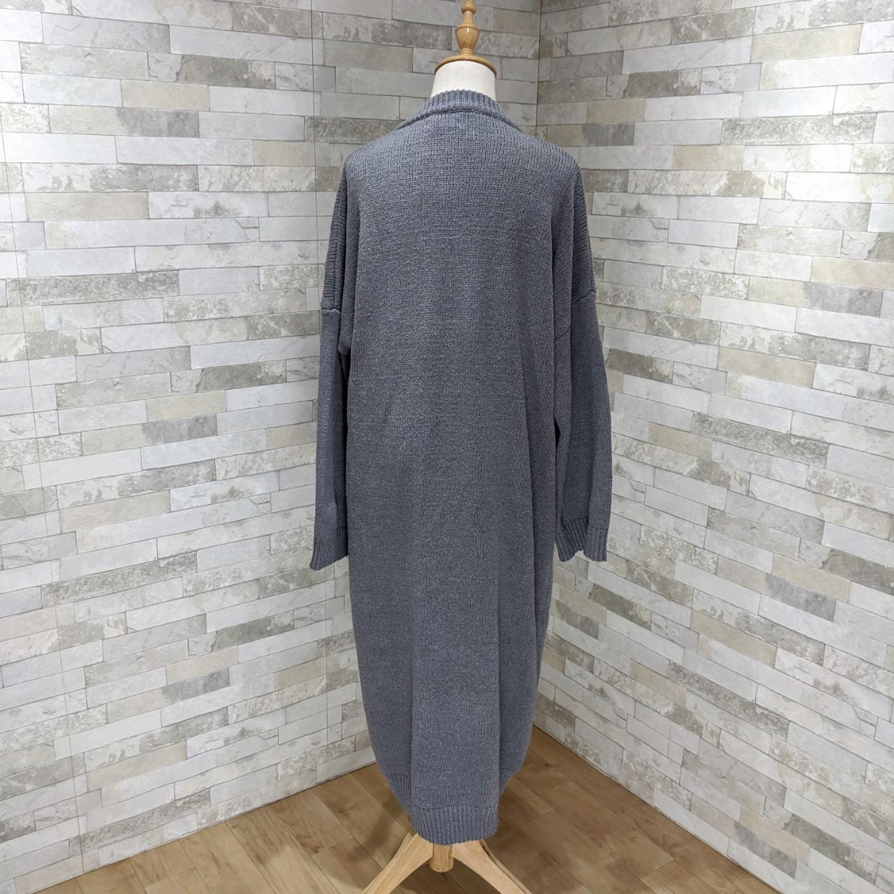 【即納】韓国 ファッション ワンピース 秋 冬 カジュアル SPTXH166  ゆったり リブニットワンピ ビッグシルエット オルチャン シンプル 定番 セレカジの写真7枚目