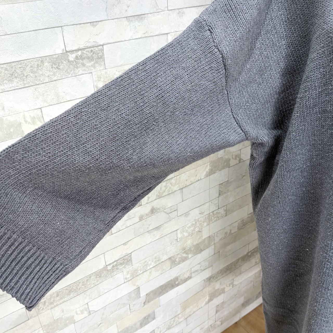 【即納】韓国 ファッション ワンピース 秋 冬 カジュアル SPTXH166  ゆったり リブニットワンピ ビッグシルエット オルチャン シンプル 定番 セレカジの写真9枚目