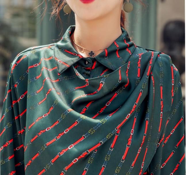 韓国 ファッション パンツ セットアップ パーティードレス 結婚式 お呼ばれドレス 秋 冬 パーティー ブライダル PTXH244  ドレープ スカーフ柄 ワイドパンツ レト 二次会 セレブ きれいめの写真10枚目