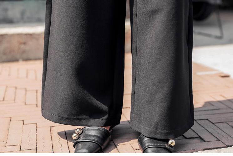 韓国 ファッション パンツ セットアップ パーティードレス 結婚式 お呼ばれドレス 秋 冬 パーティー ブライダル PTXH244  ドレープ スカーフ柄 ワイドパンツ レト 二次会 セレブ きれいめの写真14枚目