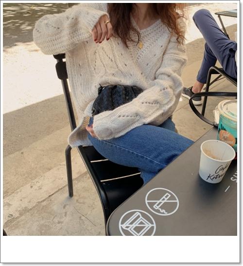 韓国 ファッション トップス ニット セーター 秋 冬 カジュアル PTXH336  ゆったり 体型カバー マニッシュ スポーティ オルチャン シンプル 定番 セレカジの写真8枚目