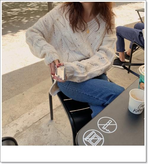 韓国 ファッション トップス ニット セーター 秋 冬 カジュアル PTXH336  ゆったり 体型カバー マニッシュ スポーティ オルチャン シンプル 定番 セレカジの写真9枚目