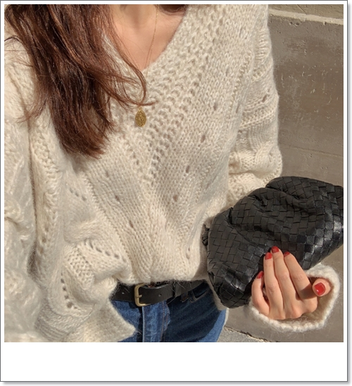韓国 ファッション トップス ニット セーター 秋 冬 カジュアル PTXH336  ゆったり 体型カバー マニッシュ スポーティ オルチャン シンプル 定番 セレカジの写真10枚目