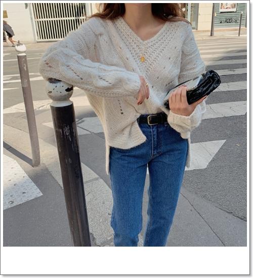 韓国 ファッション トップス ニット セーター 秋 冬 カジュアル PTXH336  ゆったり 体型カバー マニッシュ スポーティ オルチャン シンプル 定番 セレカジの写真15枚目