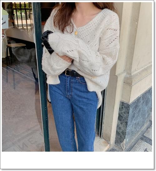 韓国 ファッション トップス ニット セーター 秋 冬 カジュアル PTXH336  ゆったり 体型カバー マニッシュ スポーティ オルチャン シンプル 定番 セレカジの写真16枚目