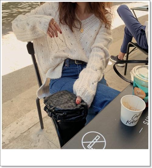 韓国 ファッション トップス ニット セーター 秋 冬 カジュアル PTXH336  ゆったり 体型カバー マニッシュ スポーティ オルチャン シンプル 定番 セレカジの写真18枚目