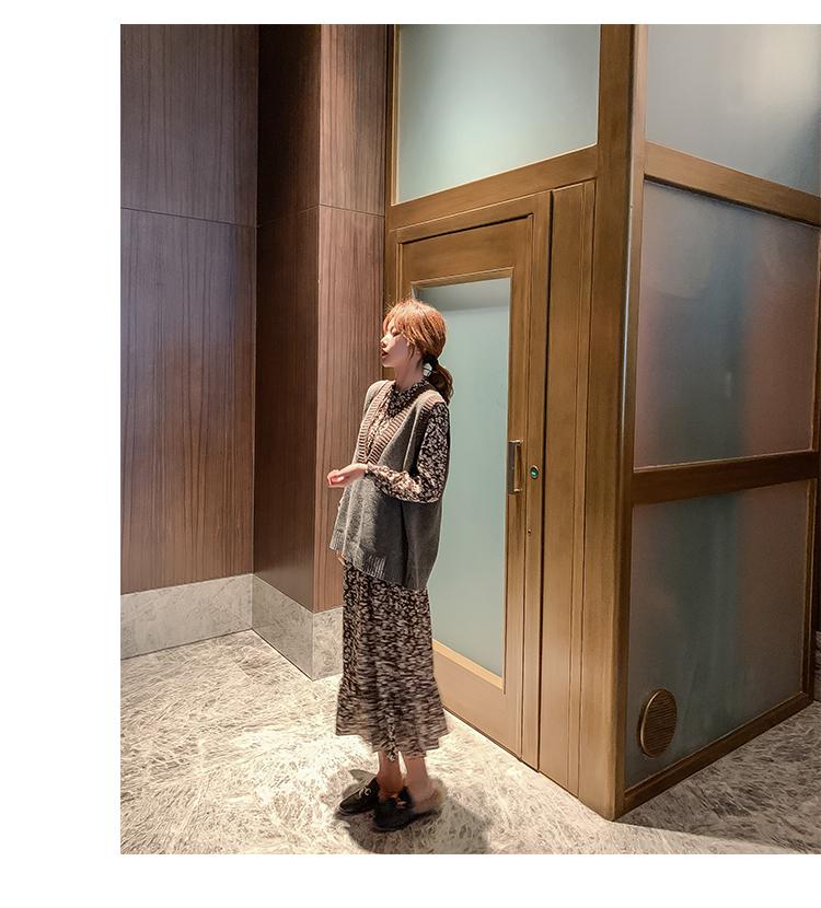 韓国 ファッション ワンピース 春 秋 冬 カジュアル PTXH363  ギャザー ハイネック フェミニン Aライン オルチャン シンプル 定番 セレカジの写真14枚目