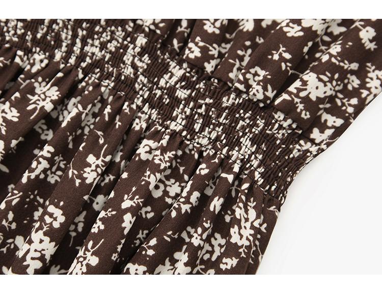 韓国 ファッション ワンピース 春 秋 冬 カジュアル PTXH363  ギャザー ハイネック フェミニン Aライン オルチャン シンプル 定番 セレカジの写真19枚目