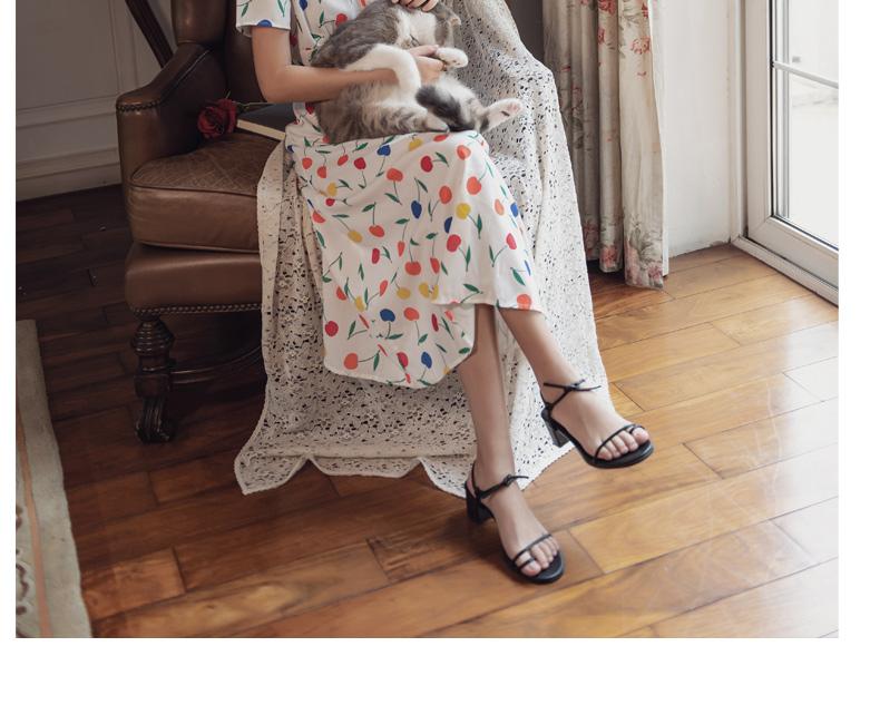 リゾートワンピース ロング マキシ ハワイ お出かけワンピ 春 夏 リゾート パーティー PTXH382  ビタミンカラー フルーツ レトロ リゾート セレブ セクシーの写真11枚目