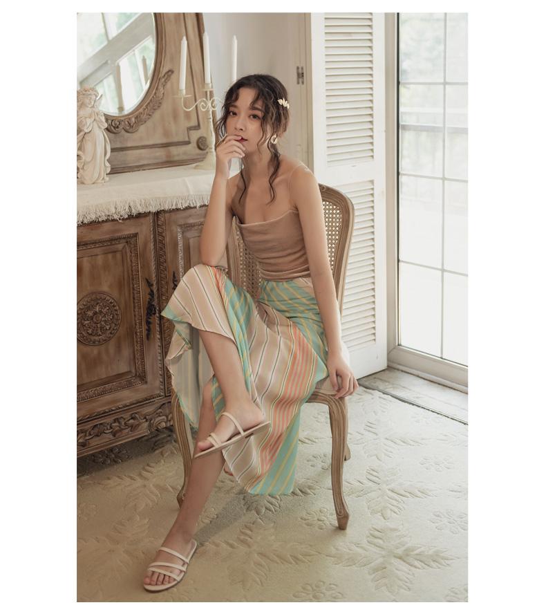 韓国 ファッション スカート ボトムス 春 夏 リゾート パーティー PTXH384  バイアス シャーベットカラー マキシ リゾート オルチャン セレブ セクシーの写真13枚目