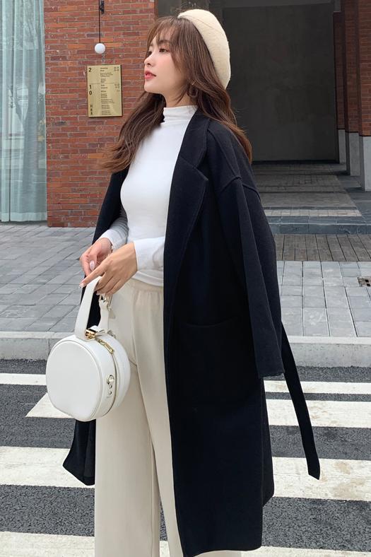 韓国 ファッション アウター コート 春 秋 冬 カジュアル PTXH419  ビッグシルエット ベーシック 着回し オルチャン シンプル 定番 セレカジの写真7枚目