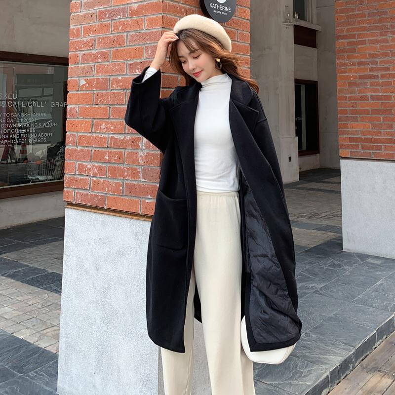 韓国 ファッション アウター コート 春 秋 冬 カジュアル PTXH419  ビッグシルエット ベーシック 着回し オルチャン シンプル 定番 セレカジの写真10枚目