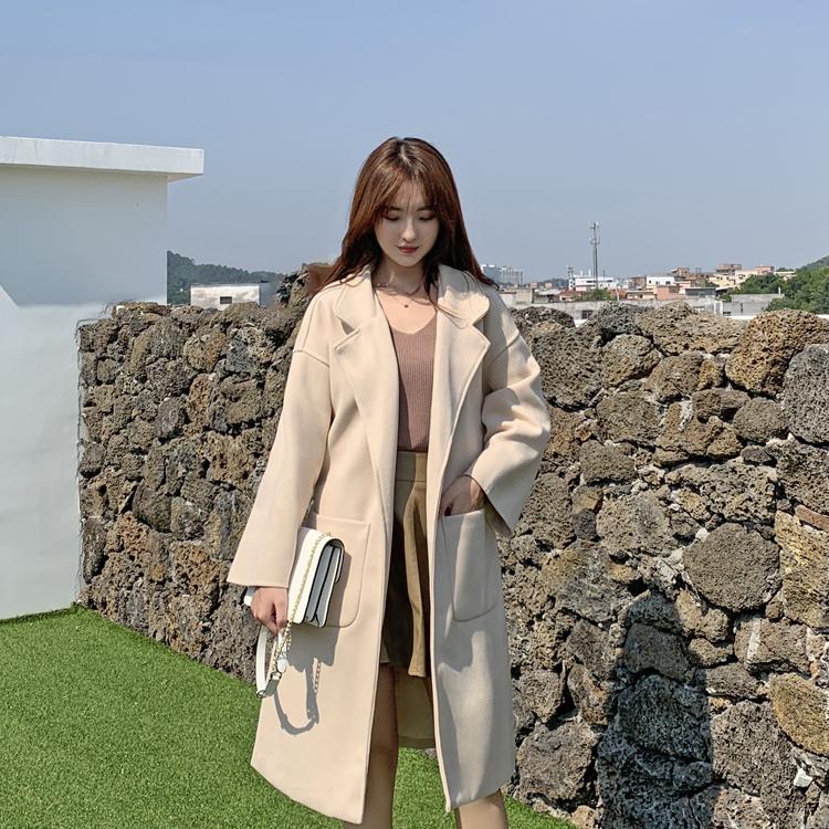 韓国 ファッション アウター コート 春 秋 冬 カジュアル PTXH419  ビッグシルエット ベーシック 着回し オルチャン シンプル 定番 セレカジの写真17枚目