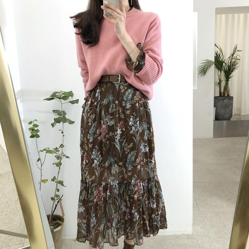 韓国 ファッション ワンピース 夏 春 カジュアル PTXH422  シアー シフォン風 エレガント 着回し オルチャン シンプル 定番 セレカジの写真3枚目