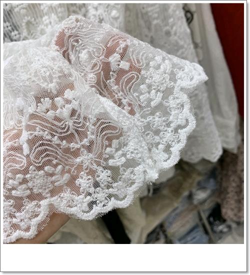 韓国 ファッション トップス Tシャツ カットソー 夏 春 秋 カジュアル PTXH428  シースルー レース プルオーバー レイヤード オルチャン シンプル 定番 セレカジの写真5枚目