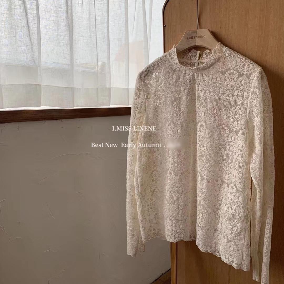 韓国 ファッション トップス Tシャツ カットソー 夏 春 秋 カジュアル PTXH428  シースルー レース プルオーバー レイヤード オルチャン シンプル 定番 セレカジの写真11枚目