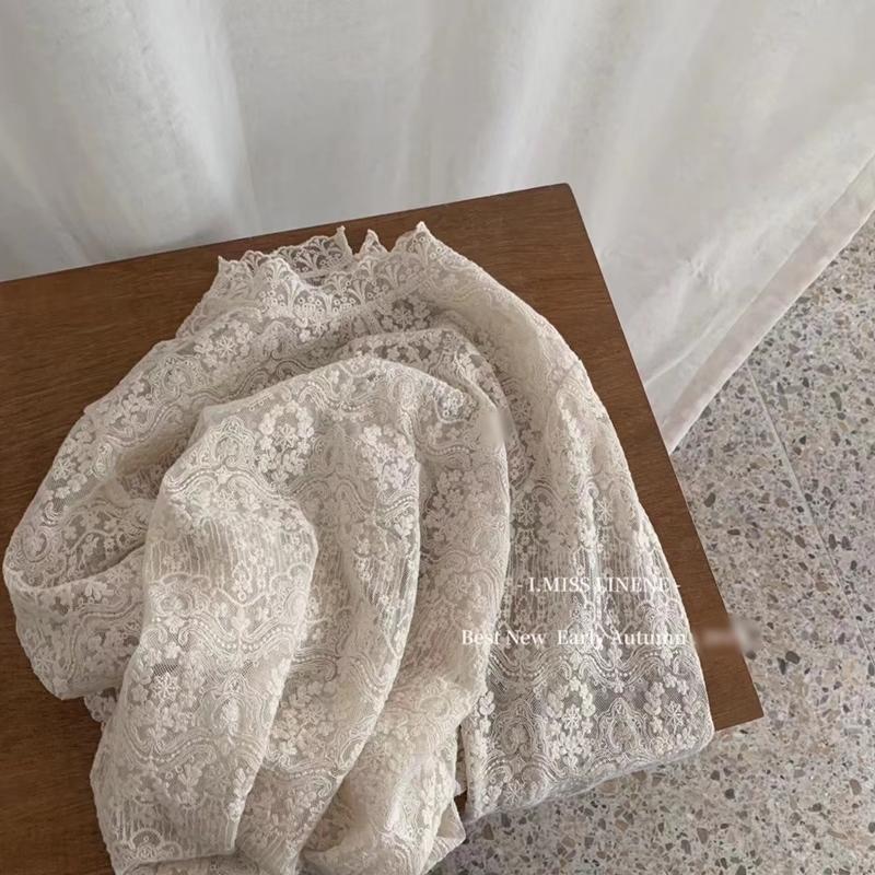 韓国 ファッション トップス Tシャツ カットソー 夏 春 秋 カジュアル PTXH428  シースルー レース プルオーバー レイヤード オルチャン シンプル 定番 セレカジの写真13枚目