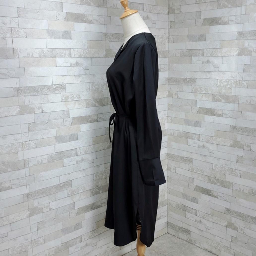 韓国 ファッション ワンピース 春 秋 冬 カジュアル PTXH448  とろみ素材 アシンメトリー ベーシック 着回し オルチャン シンプル 定番 セレカジの写真10枚目