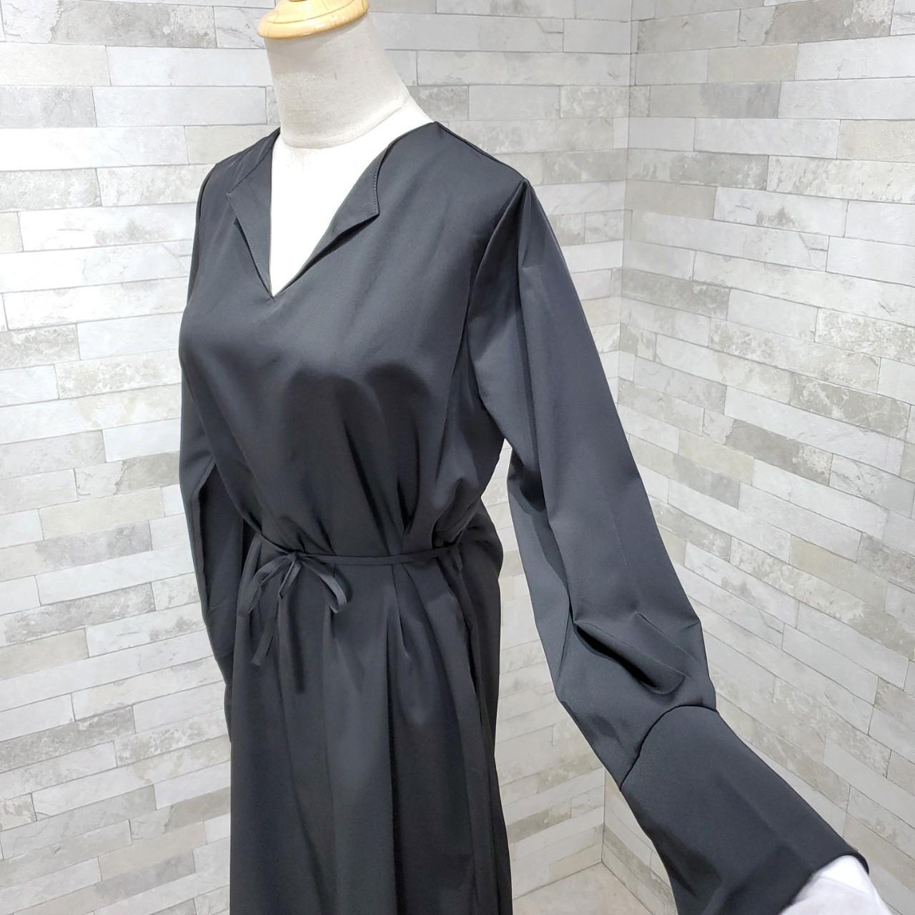 韓国 ファッション ワンピース 春 秋 冬 カジュアル PTXH448  とろみ素材 アシンメトリー ベーシック 着回し オルチャン シンプル 定番 セレカジの写真16枚目