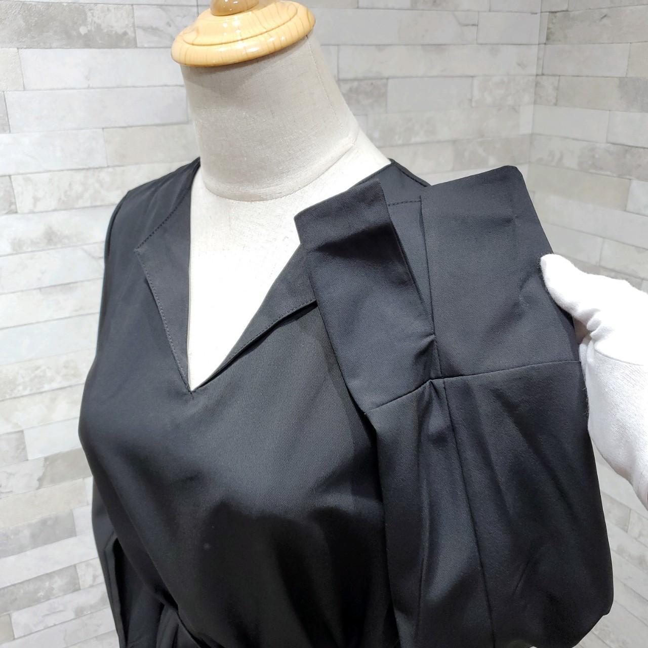 韓国 ファッション ワンピース 春 秋 冬 カジュアル PTXH448  とろみ素材 アシンメトリー ベーシック 着回し オルチャン シンプル 定番 セレカジの写真17枚目