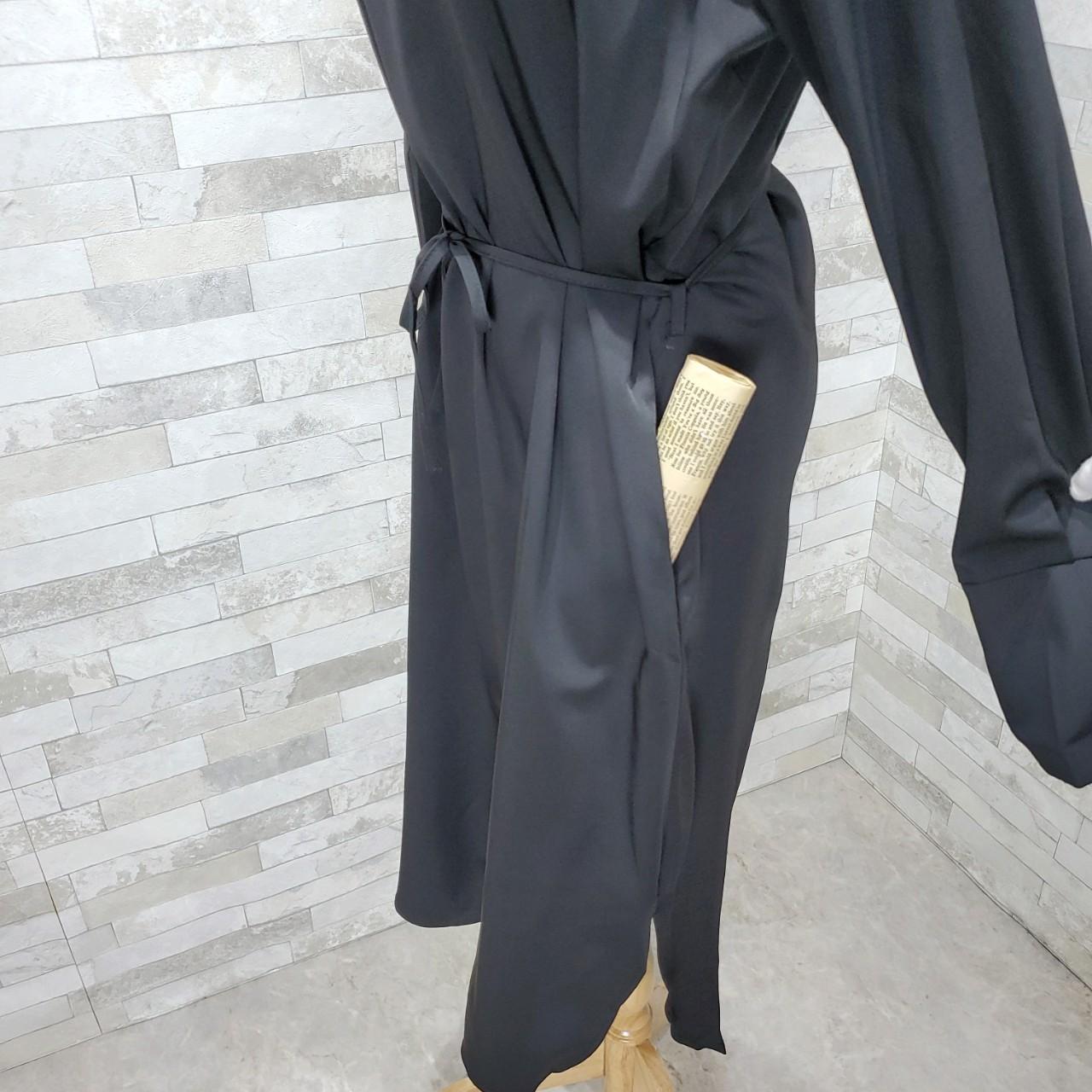 韓国 ファッション ワンピース 春 秋 冬 カジュアル PTXH448  とろみ素材 アシンメトリー ベーシック 着回し オルチャン シンプル 定番 セレカジの写真18枚目