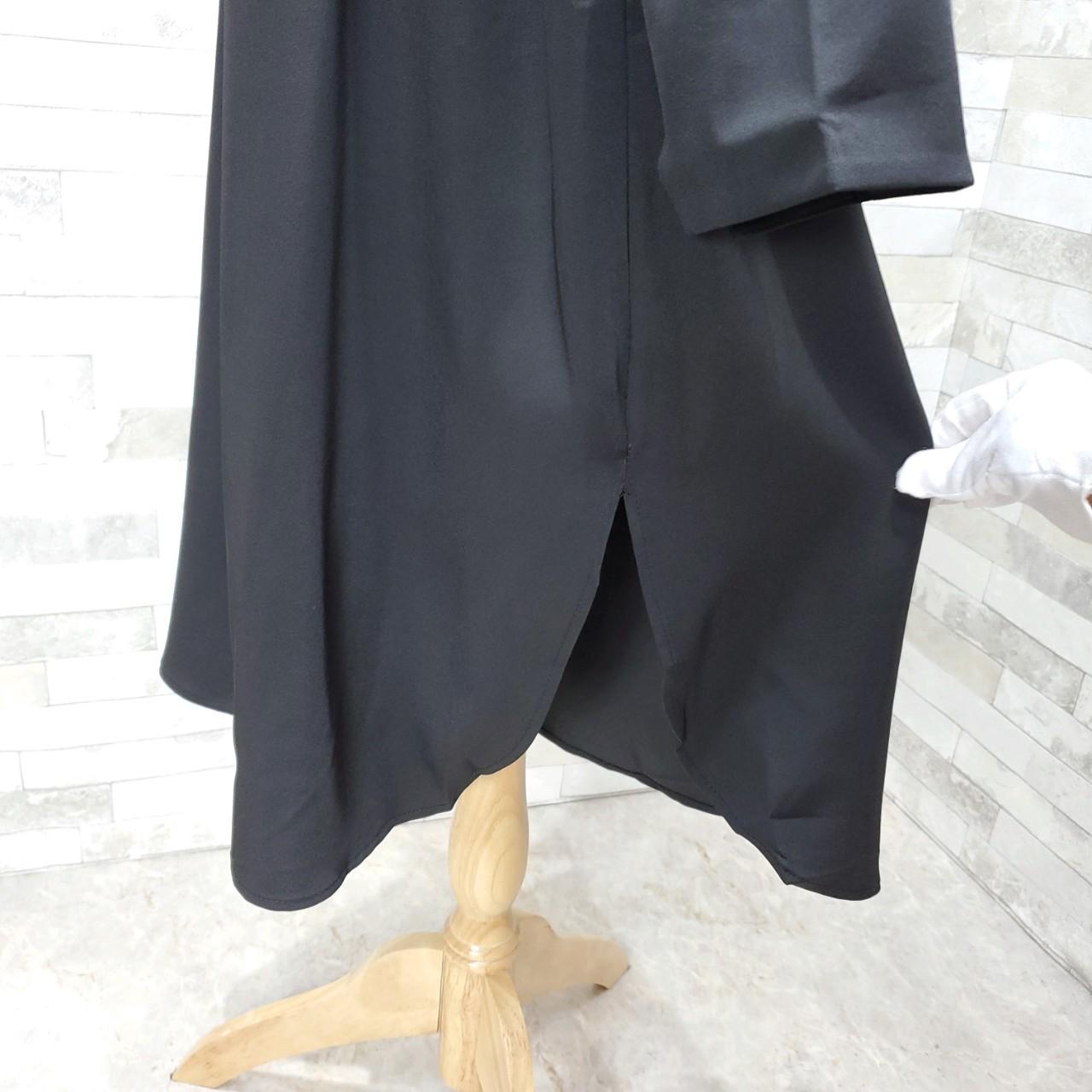 韓国 ファッション ワンピース 春 秋 冬 カジュアル PTXH448  とろみ素材 アシンメトリー ベーシック 着回し オルチャン シンプル 定番 セレカジの写真19枚目