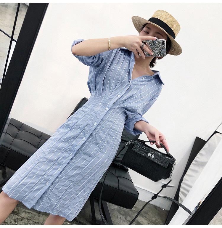 【即納】韓国 ファッション ワンピース 春 夏 秋  カジュアル SPTXH470  タイト タック Yライン エレガント リゾート オルチャン シンプル 定番 セレカジの写真6枚目