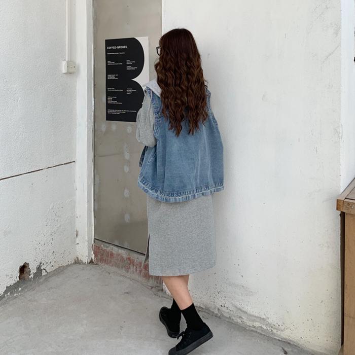 韓国 ファッション セットアップ 秋 冬 春 カジュアル PTXH472  ビッグシルエット フード付 ベスト ゆるタイト オルチャン シンプル 定番 セレカジの写真15枚目