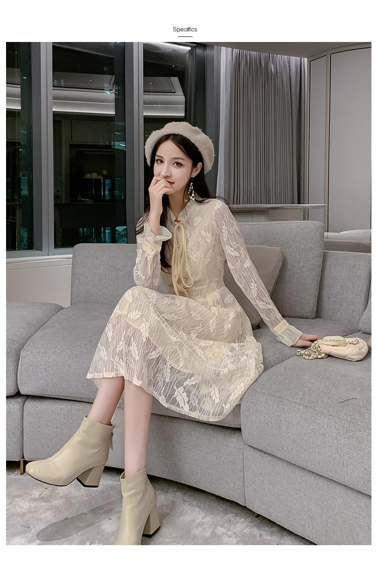 韓国 ファッション ワンピース パーティードレス ロング マキシ 春 夏 パーティー ブライダル PTXH485 結婚式 お呼ばれ 総レース 羽モチーフ スタンドカラー フリ 二次会 セレブ きれいめの写真17枚目