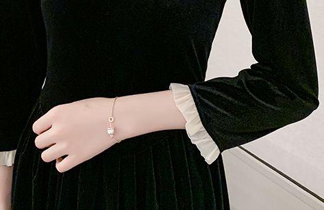 韓国 ファッション ワンピース パーティードレス ロング マキシ 秋 冬 パーティー ブライダル PTXH488 結婚式 お呼ばれ フリル 七分袖 ソフトプリーツ コンサバテ 二次会 セレブ きれいめの写真9枚目