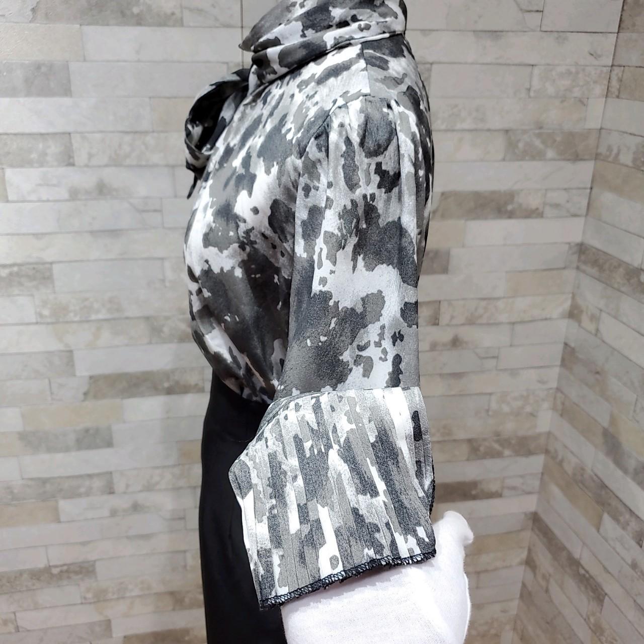韓国 ファッション パーティードレス 結婚式 お呼ばれドレス セットアップ 秋 冬 春 パーティー ブライダル PTXH515  モノトーン リボン ドレープ タイト オフィ 二次会 セレブ きれいめの写真17枚目