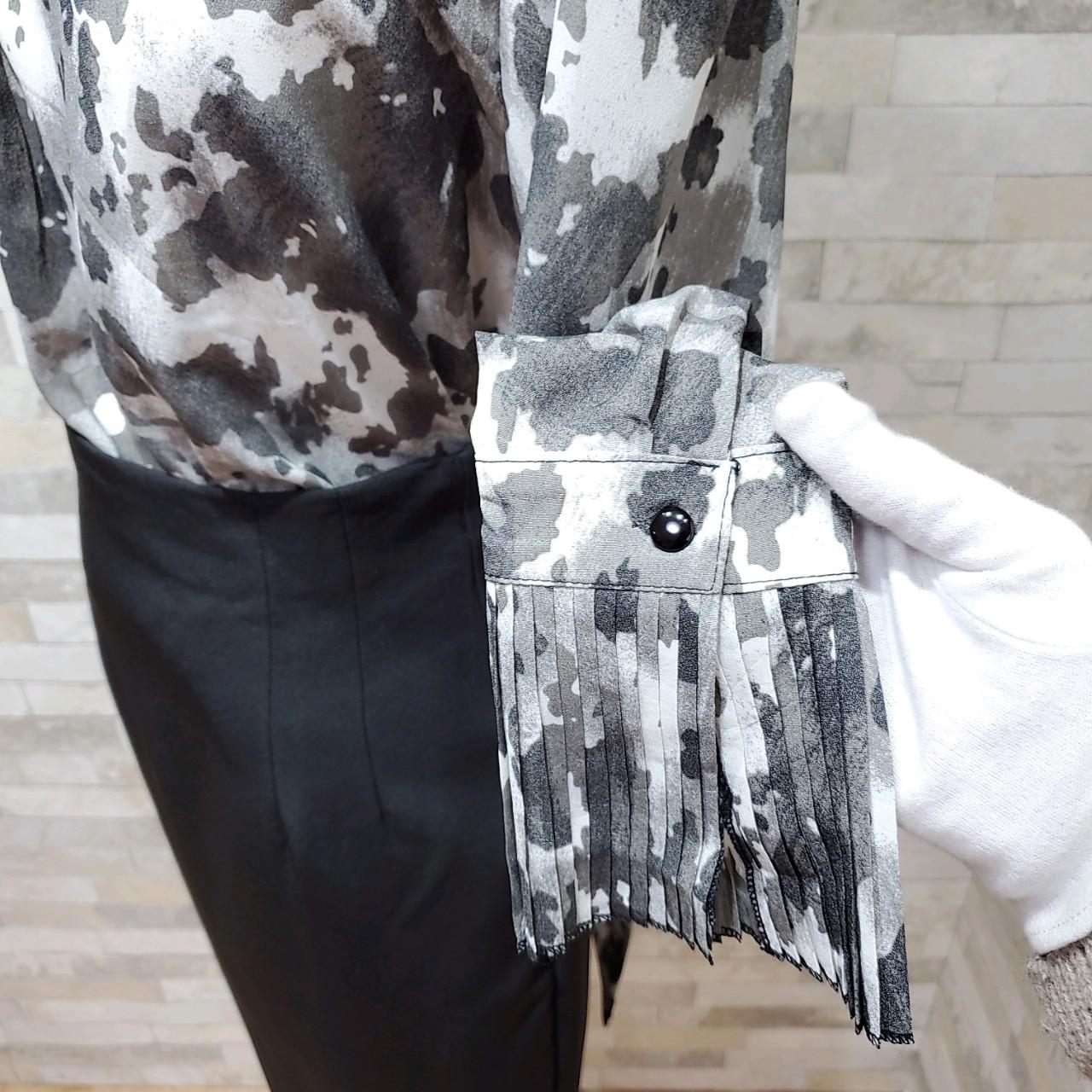 韓国 ファッション パーティードレス 結婚式 お呼ばれドレス セットアップ 秋 冬 春 パーティー ブライダル PTXH515  モノトーン リボン ドレープ タイト オフィ 二次会 セレブ きれいめの写真18枚目