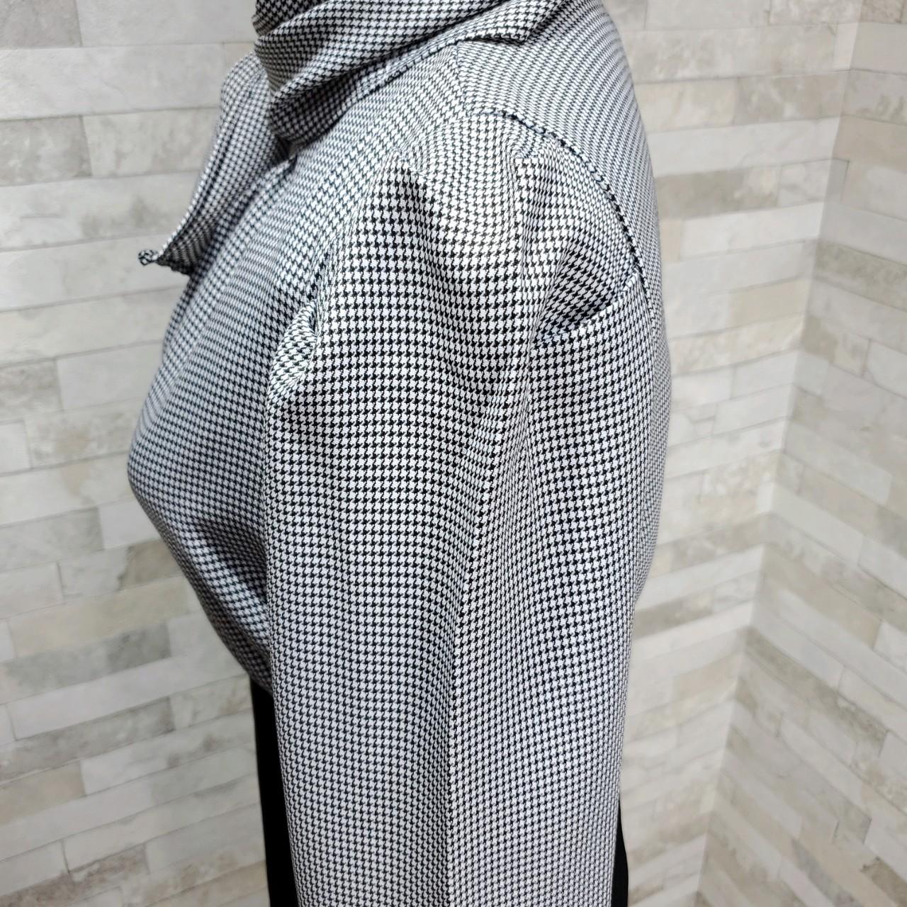 韓国 ファッション パーティードレス 結婚式 お呼ばれドレス セットアップ 春 秋 冬 パーティー ブライダル PTXH518  千鳥格子 ドレープ パフスリーブ タイト 二次会 セレブ きれいめの写真15枚目