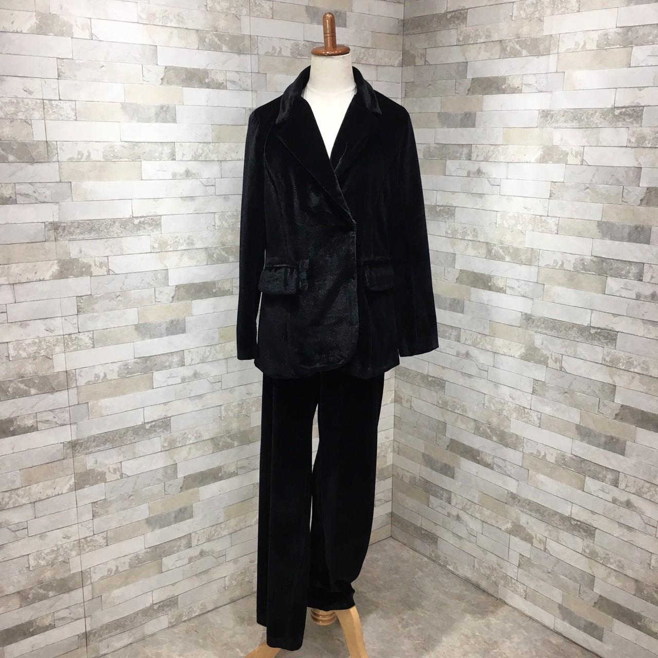 【即納】韓国 ファッション パンツ セットアップ パーティードレス 結婚式 お呼ばれドレス 秋 冬 パーティー ブライダル SPTXH554  起毛 ドレープ テーラードジャ 二次会 セレブ きれいめの写真5枚目