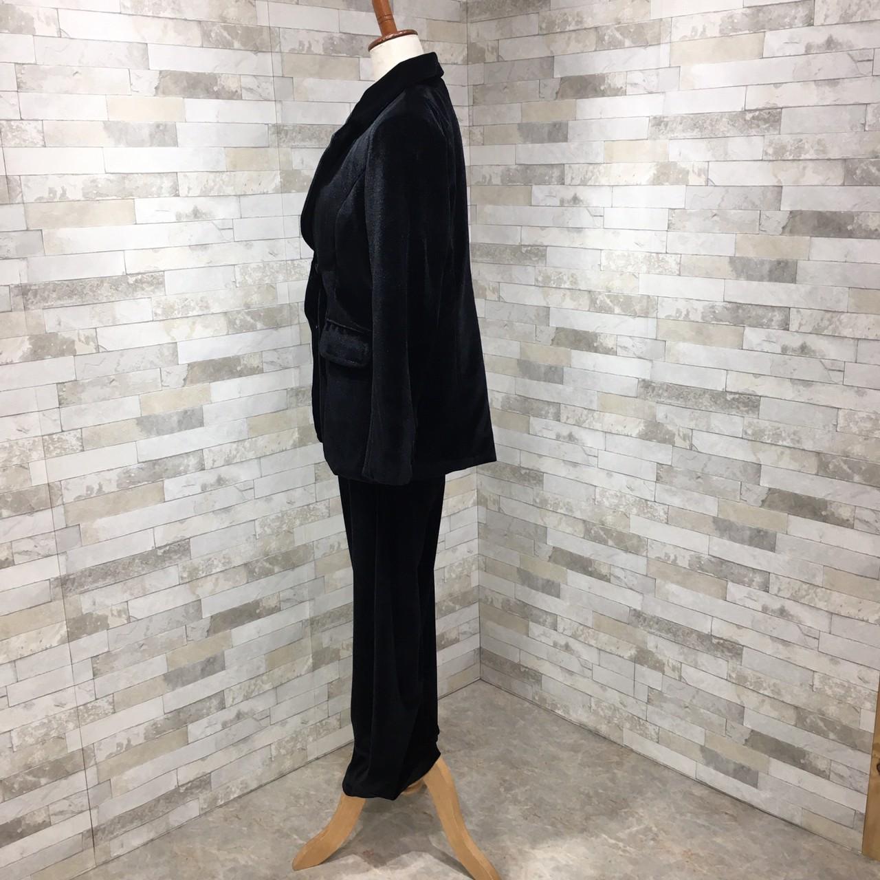 【即納】韓国 ファッション パンツ セットアップ パーティードレス 結婚式 お呼ばれドレス 秋 冬 パーティー ブライダル SPTXH554  起毛 ドレープ テーラードジャ 二次会 セレブ きれいめの写真8枚目