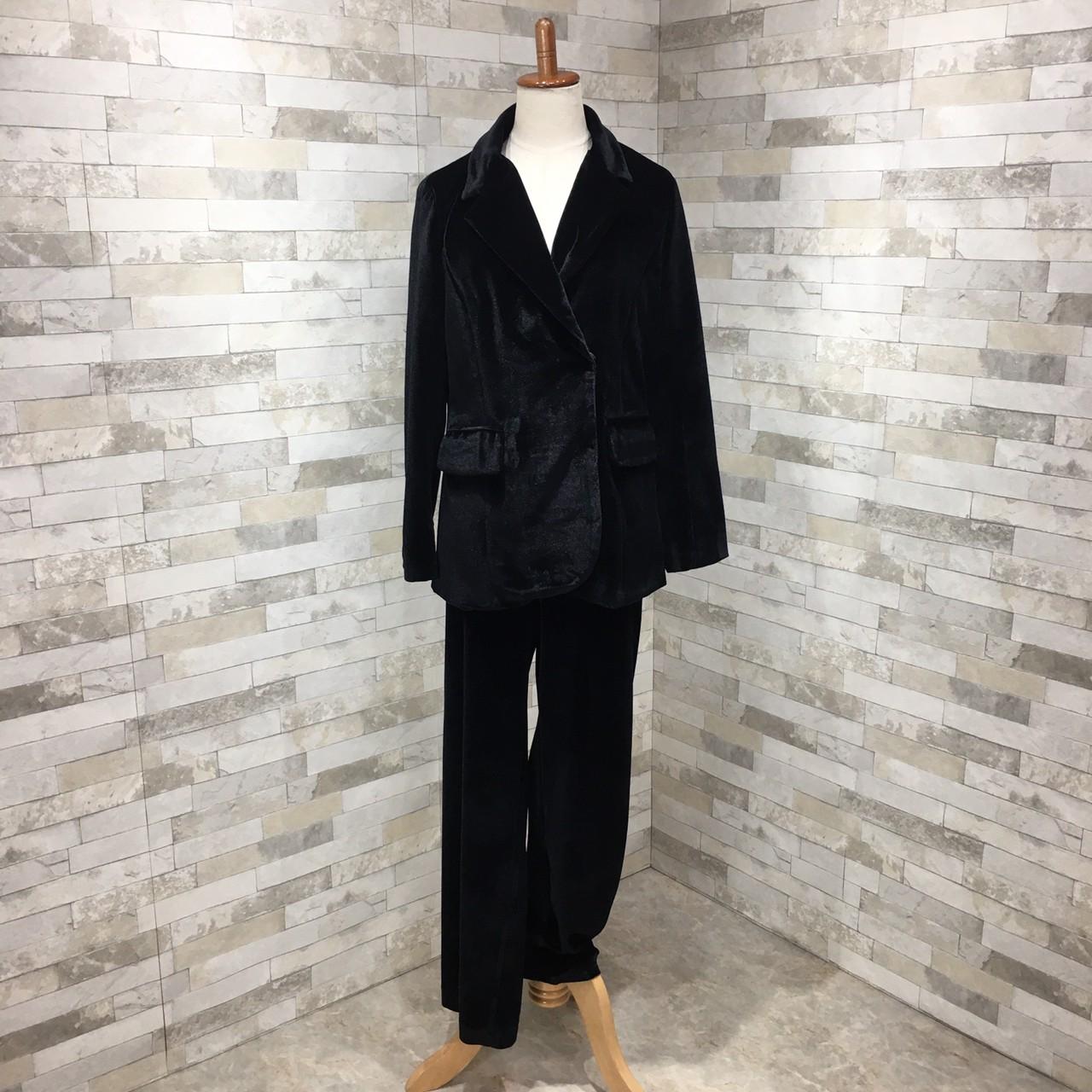 【即納】韓国 ファッション パンツ セットアップ パーティードレス 結婚式 お呼ばれドレス 秋 冬 パーティー ブライダル SPTXH554  起毛 ドレープ テーラードジャ 二次会 セレブ きれいめの写真9枚目