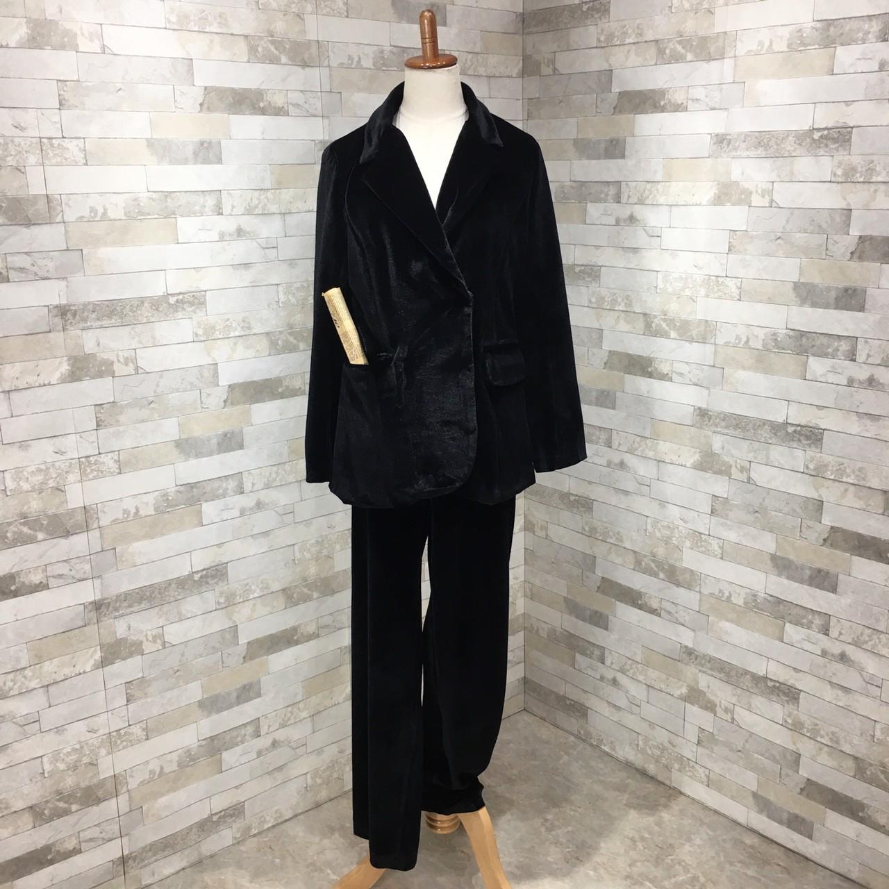 【即納】韓国 ファッション パンツ セットアップ パーティードレス 結婚式 お呼ばれドレス 秋 冬 パーティー ブライダル SPTXH554  起毛 ドレープ テーラードジャ 二次会 セレブ きれいめの写真10枚目