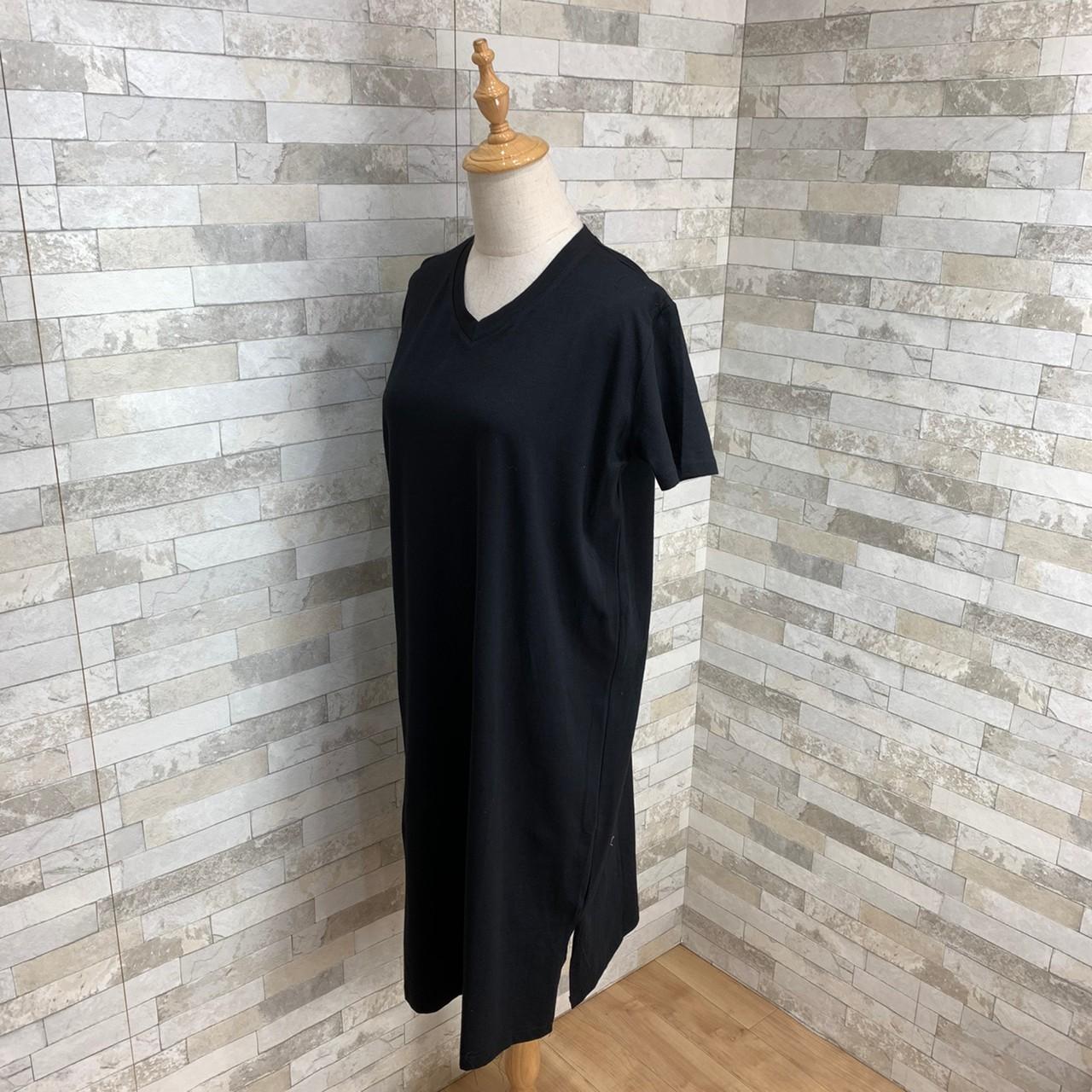 韓国 ファッション ワンピース 春 夏 秋 カジュアル PTXH669  Vネック スポーティ シンプル リラクシー オルチャン シンプル 定番 セレカジの写真3枚目