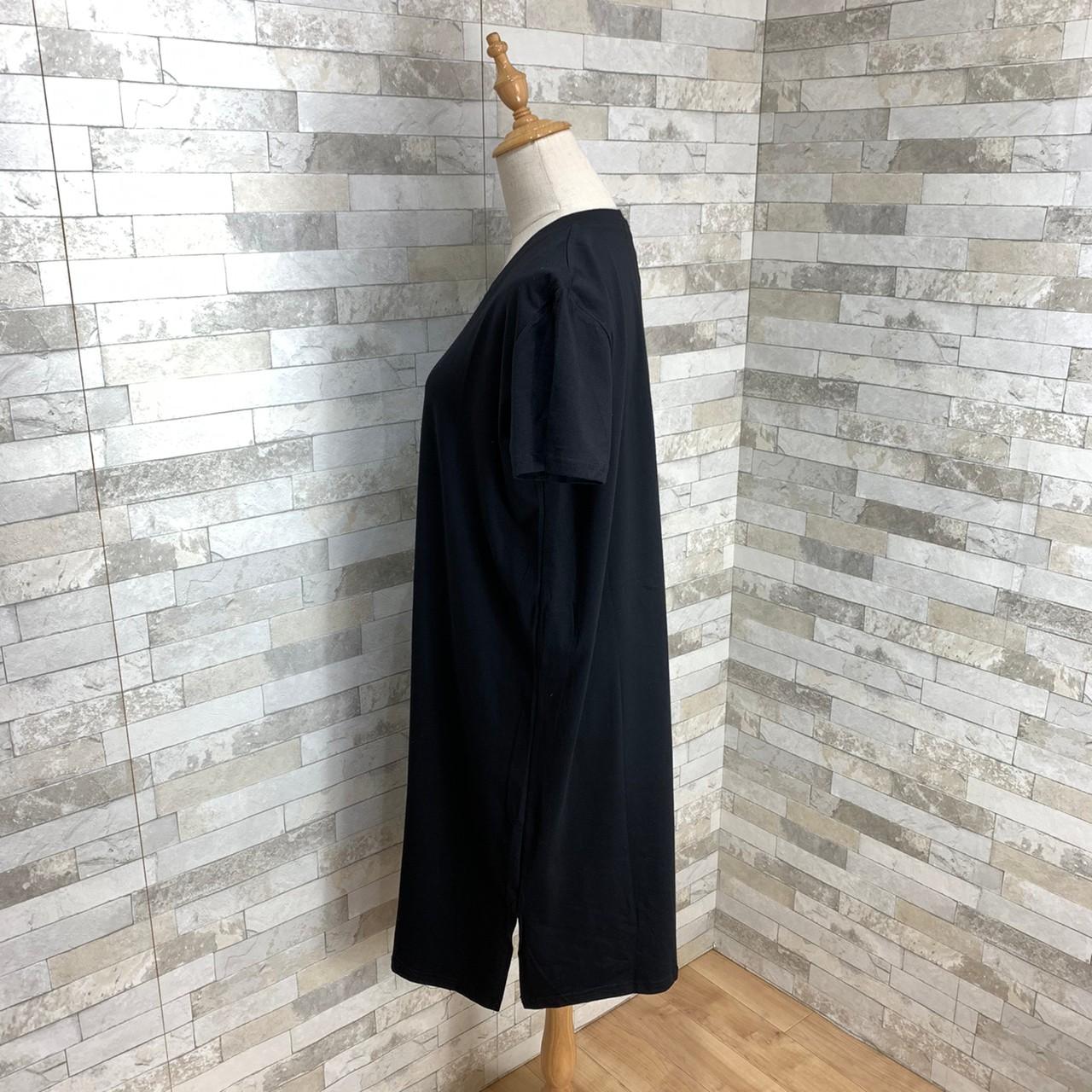 韓国 ファッション ワンピース 春 夏 秋 カジュアル PTXH669  Vネック スポーティ シンプル リラクシー オルチャン シンプル 定番 セレカジの写真4枚目