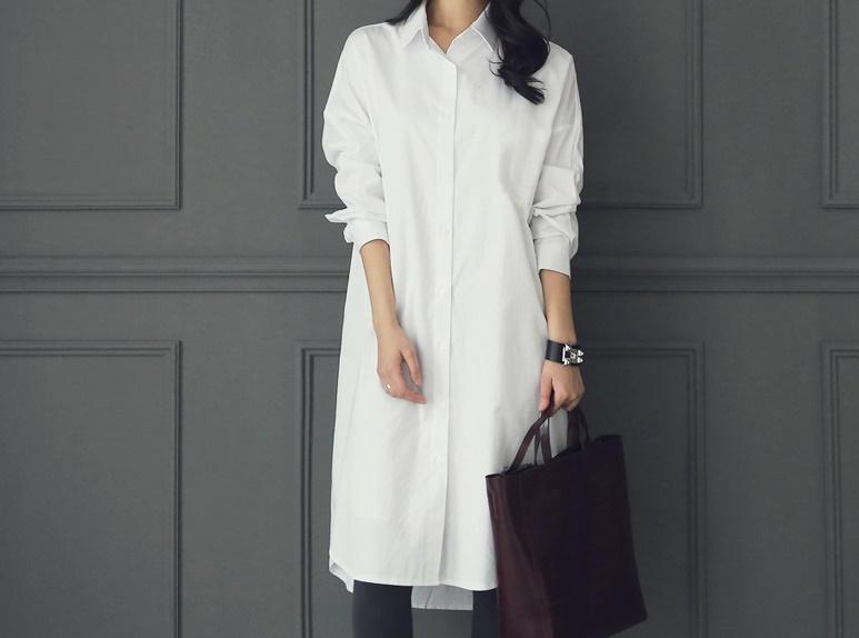 韓国 ファッション ワンピース 春 夏 秋 カジュアル PTXH826  ゆるタイト レイヤード ベーシック 着回し オルチャン シンプル 定番 セレカジの写真5枚目