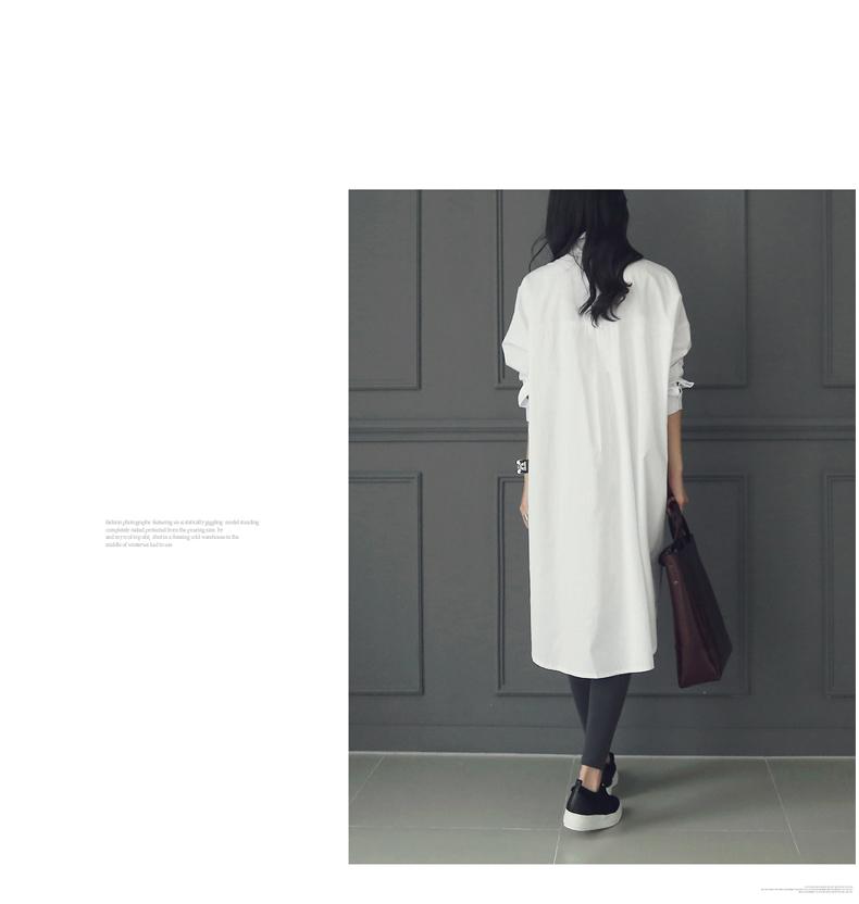韓国 ファッション ワンピース 春 夏 秋 カジュアル PTXH826  ゆるタイト レイヤード ベーシック 着回し オルチャン シンプル 定番 セレカジの写真7枚目