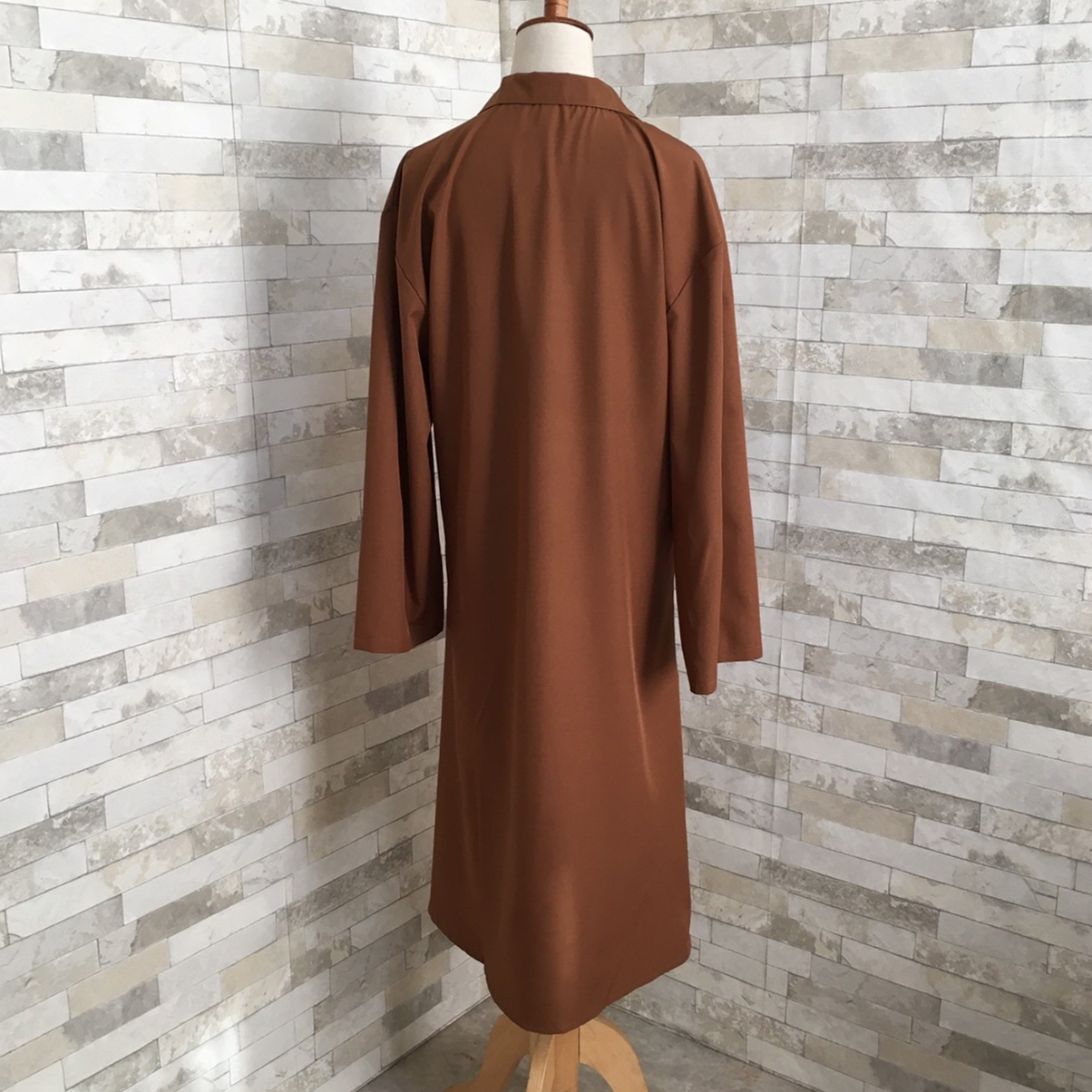 韓国 ファッション ワンピース 春 秋 冬 カジュアル PTXH835  テーラード 七分袖 ゆったり オフィス 休日 オルチャン シンプル 定番 セレカジの写真13枚目