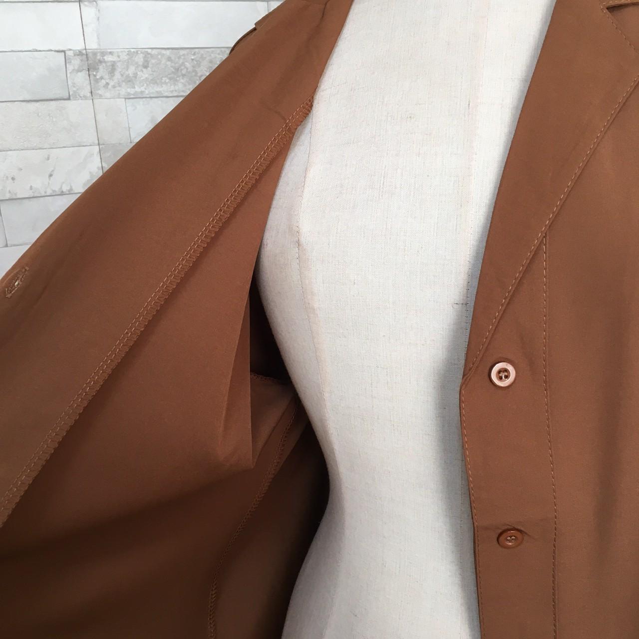 韓国 ファッション ワンピース 春 秋 冬 カジュアル PTXH835  テーラード 七分袖 ゆったり オフィス 休日 オルチャン シンプル 定番 セレカジの写真15枚目