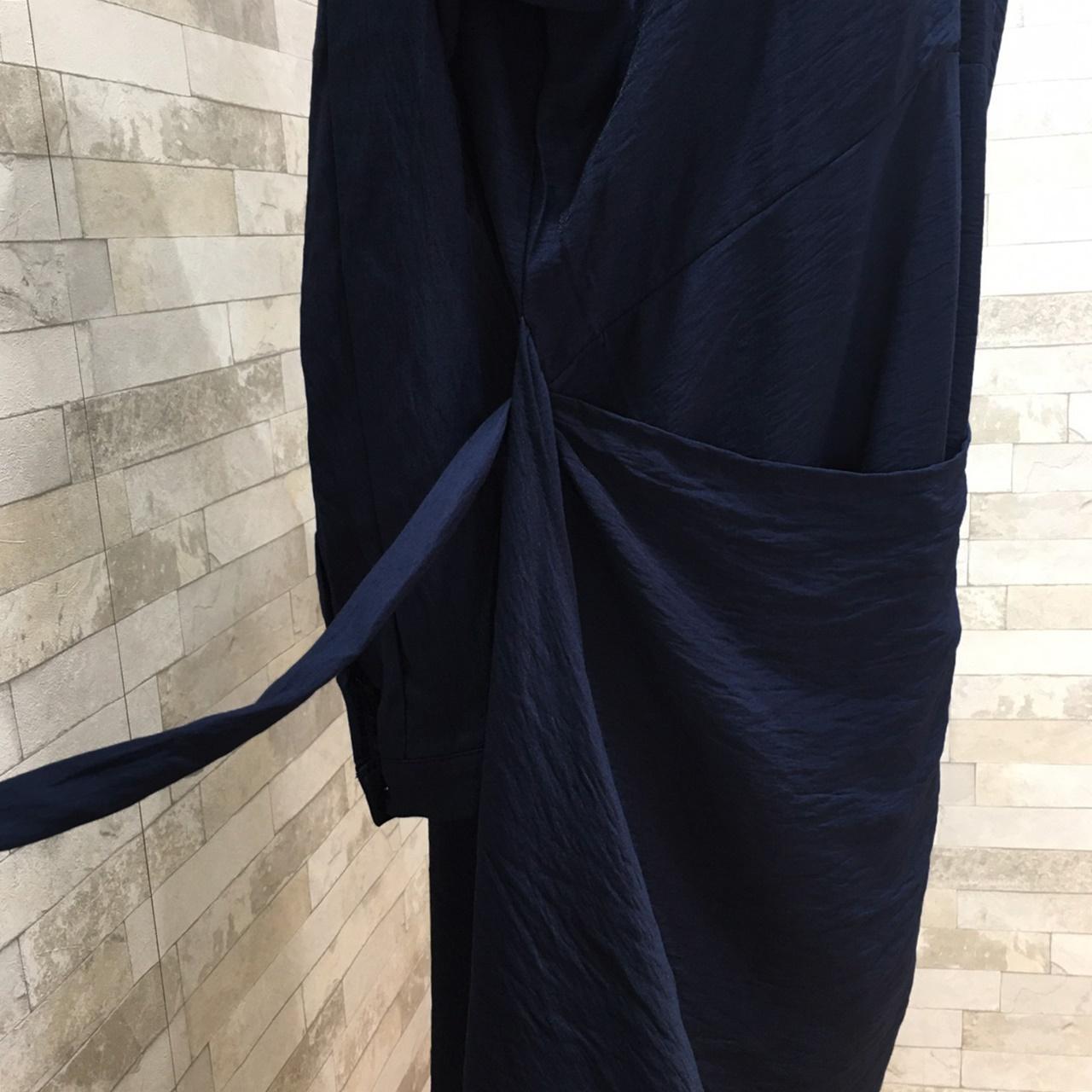 韓国 ファッション ワンピース 春 秋 冬 カジュアル PTXH836  カシュクール 襟付き ウエストマーク オフィス オルチャン シンプル 定番 セレカジの写真16枚目