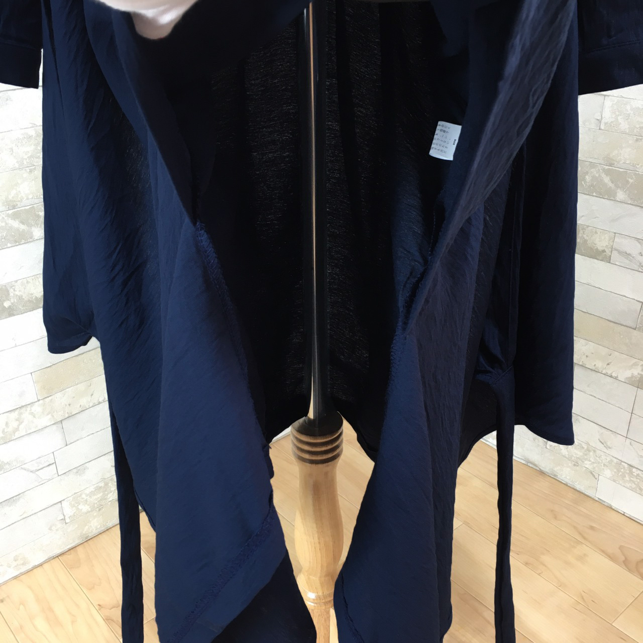韓国 ファッション ワンピース 春 秋 冬 カジュアル PTXH836  カシュクール 襟付き ウエストマーク オフィス オルチャン シンプル 定番 セレカジの写真17枚目