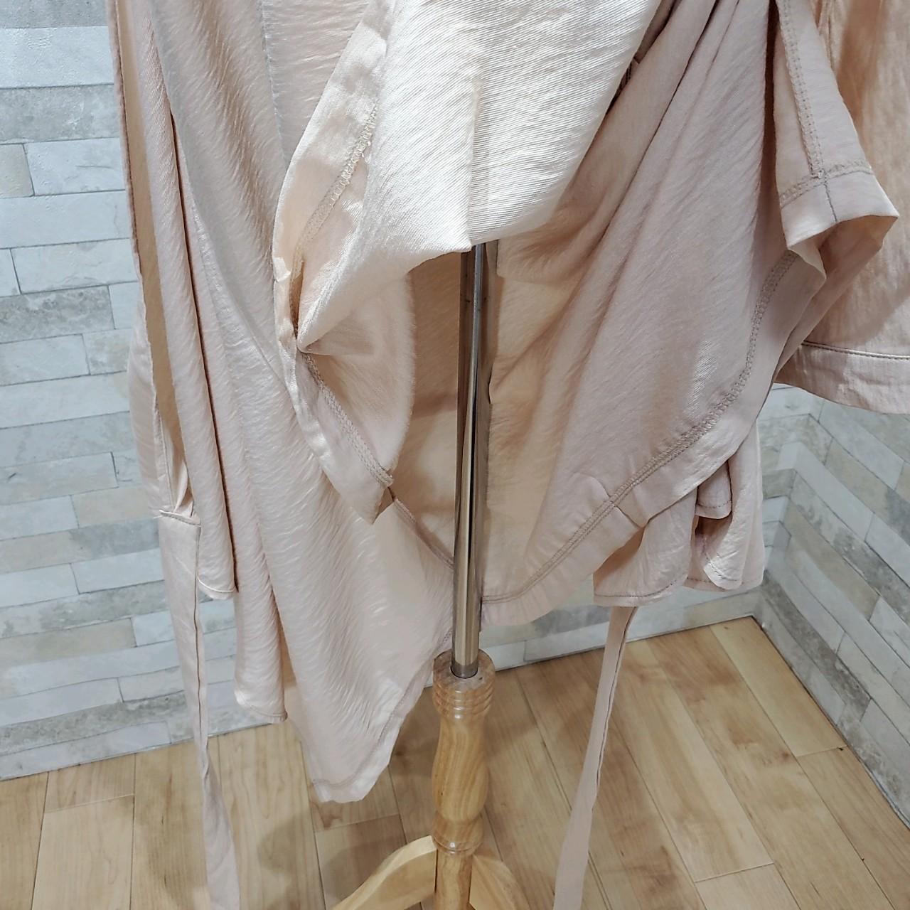 韓国 ファッション ワンピース 春 秋 冬 カジュアル PTXH836  カシュクール 襟付き ウエストマーク オフィス オルチャン シンプル 定番 セレカジの写真20枚目